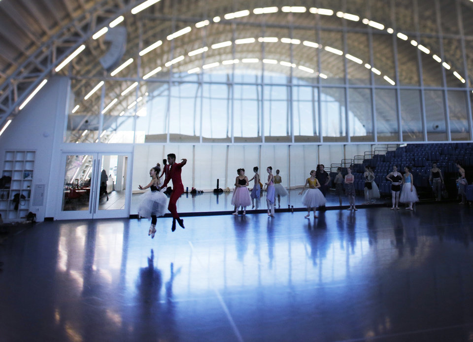 Photo - Rehearsals at Oklahoma City Ballet, Monday, April 8, 2019.  Photo by Doug Hoke/The Oklahoman