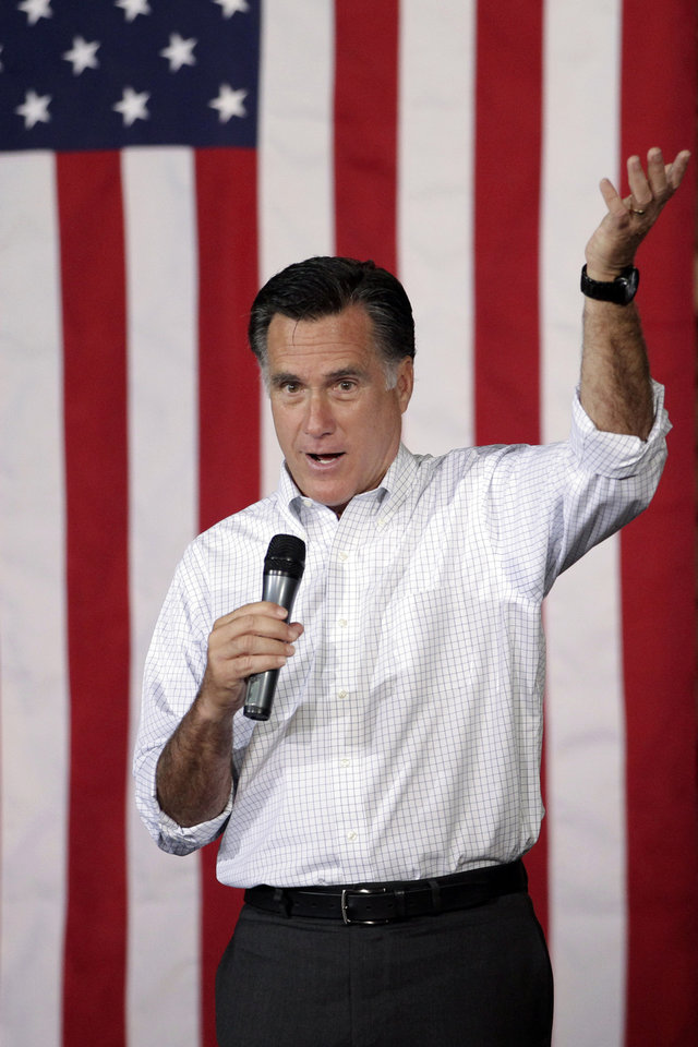 Photo -   Republican presidential candidate, former Massachusetts Gov. Mitt Romney speaks at a campaign stop in Pittsburgh, Pa., Friday, May 4, 2012. (AP Photo/Jae C. Hong)