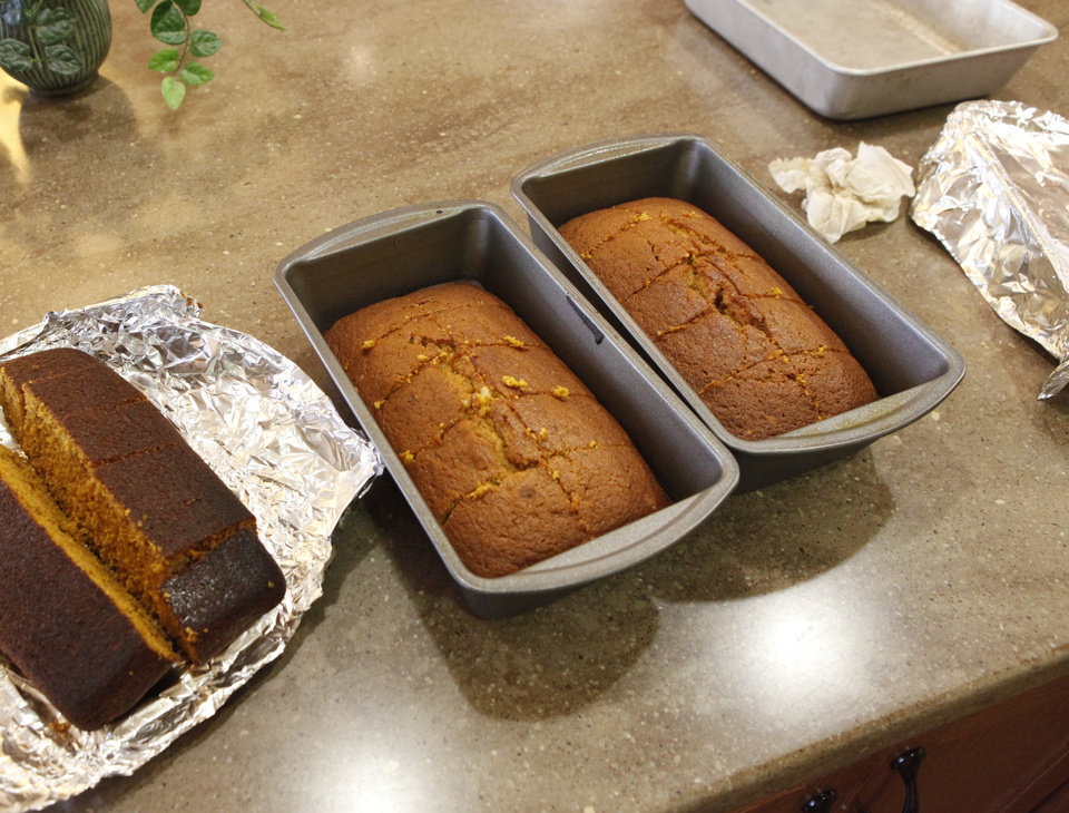 Alzheimer\'s patients use bread-making as therapy at the Touchmark Coffee Creek Assisted Living Center on Wednesday Nov. 16, 2011. This day, the women made pumpkin bread in advance of Thanksgiving. Photo by Jim Beckel, The Oklahoman