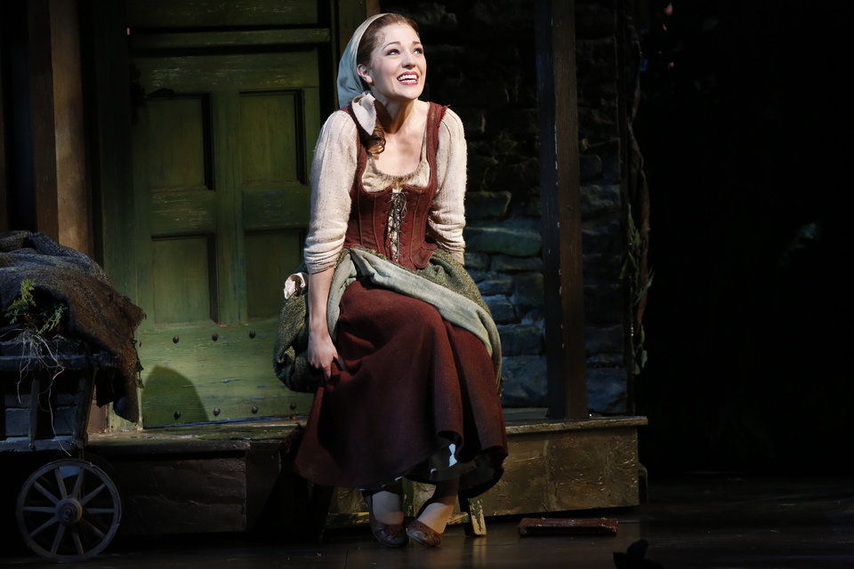 Photo - This theater image released by Sam Rudy Media Relations shows Laura Osnes, as Cinderella, during a performance of