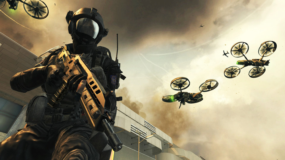 "This undated publicity photo released by Treyarch/Activision-Blizzard Inc. shows a scene from the video game, ""Call of Duty: Black Ops II."" (AP Photo/Treyarch/Activision-Blizzard Inc.)"