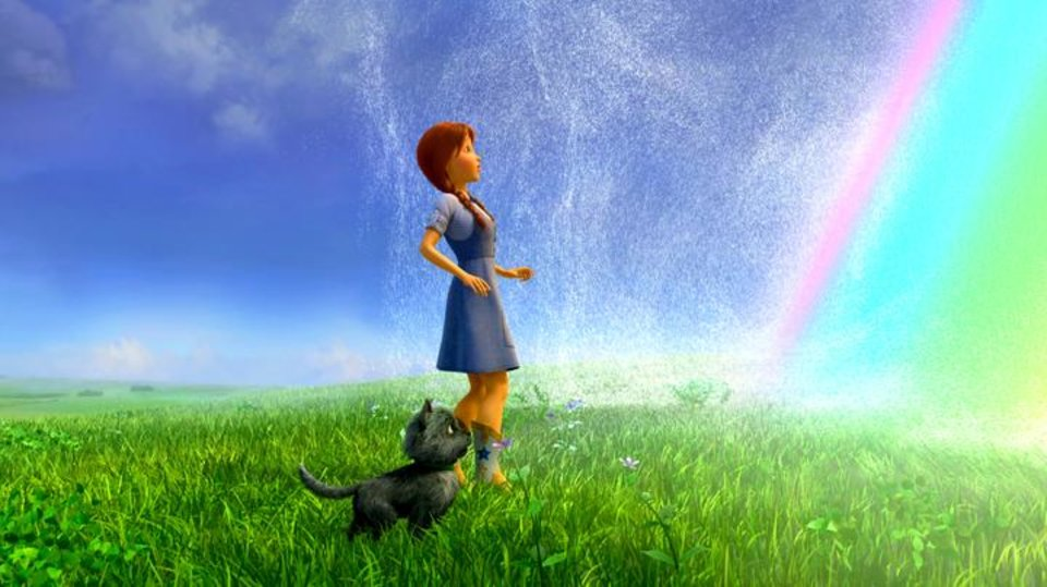Photo -       Dorothy (voice of Lea Michele) and Toto in Legends of Oz: Dorothy's Return.