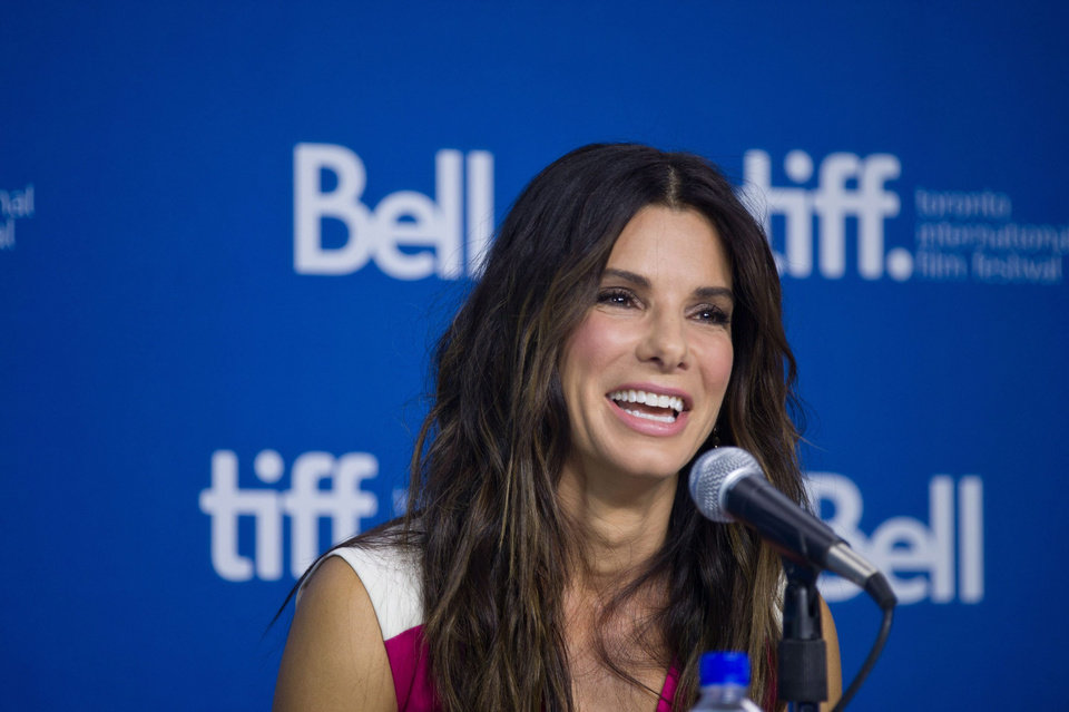 "Photo - Actress Sandra Bullock speaks during the press conference for ""Gravity"" at the 2013 Toronto International Film Festival in Toronto on Monday, Sept. 9, 2013. (AP Photo/The Canadian Press, Galit Rodan) ORG XMIT: GYR109"
