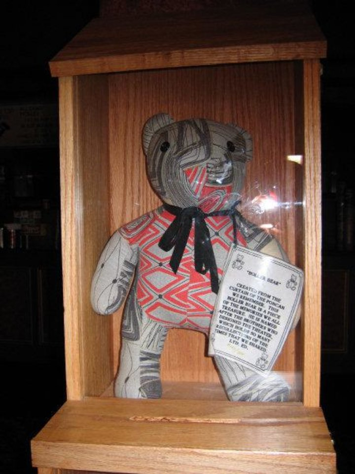 Photo - Named for the brothers who designed the Poncan Theatre, this Boller Bear was a limited edition creation made from an old curtain that once hung in the theater.  Photo by Rick Rogers