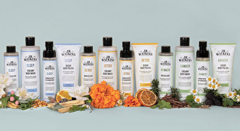 Photo - J.R. Watkins' new natural bath collection is available at Ulta stores.
