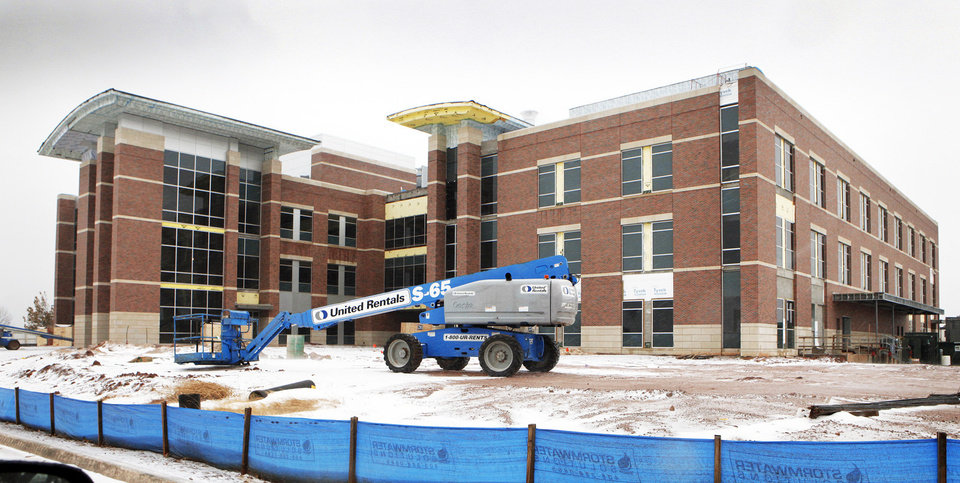 The Stephenson Life Sciences Research Center is one of many buildings under construction at the University of Oklahoma  in Norman.  Photo by Steve Sisney, The Oklahoman