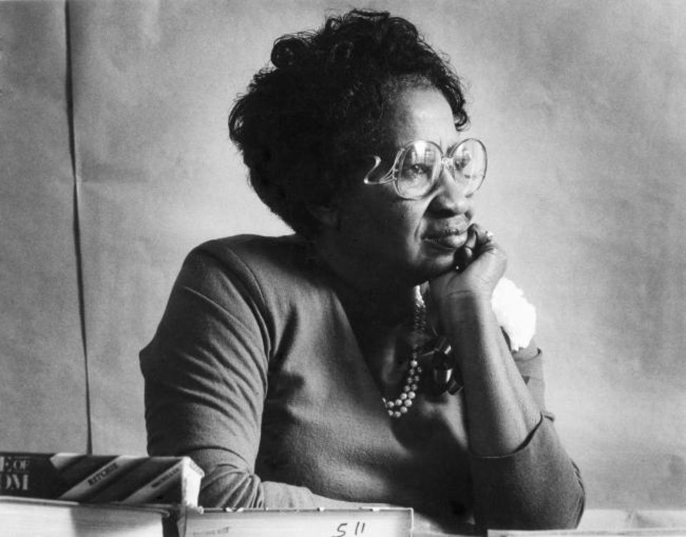 Photo -  Clara Luper, teacher and Oklahoma City civil rights pioneer, is shown in this Oklahoman file photo from 1988.
