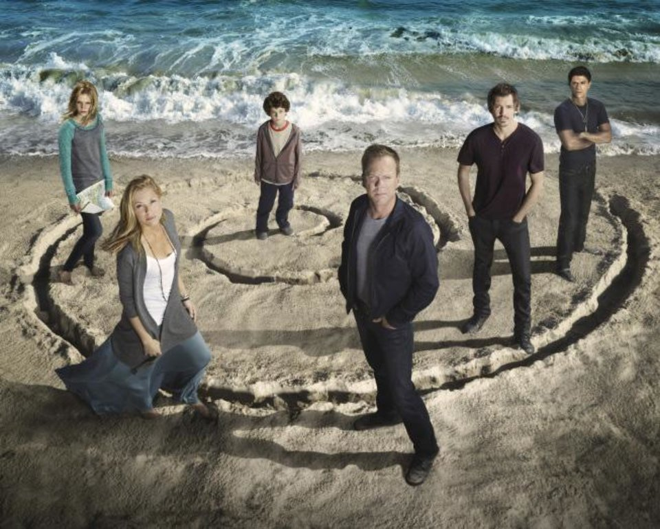 L-R: Saxon Sharbino, Maria Bello, David Mazouz, Kiefer Sutherland, Lukas Haas and Said Taghmaoui. The second season of TOUCH premieres Friday, Feb. 1 (8:00-9:00 PM ET/PT) on FOX. ©2012 Fox Broadcasting Co. Cr: Michael Muller/FOX