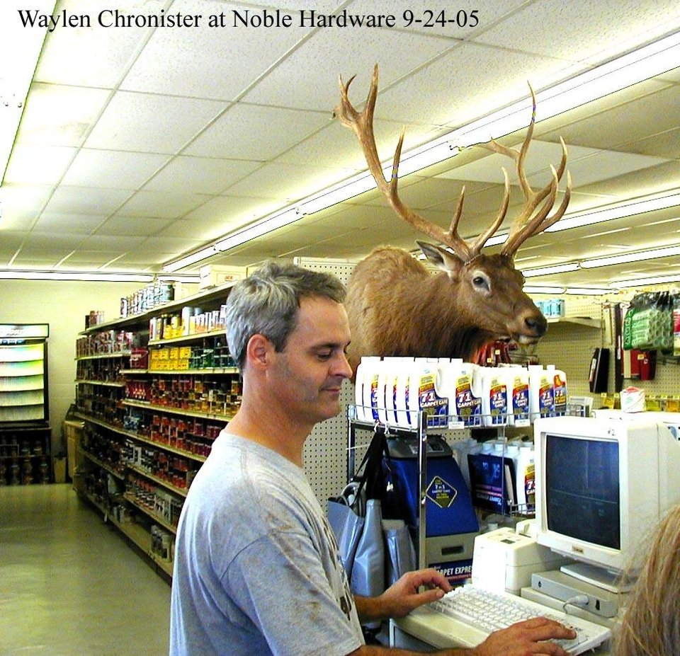 Community Photo By: Nancy A. Stine Submitted By: Nancy, HOMETOWN HARDWARE Fomerly an Ace Hardware, the change to Noble Hardware was appropriate because the store is a fixture of the Noble community. It has the special attention of a small town store, and the helpfulness of a city store. Waylen Chronister, pictured here can likely tell his customers just what they need and often call them by name. The
