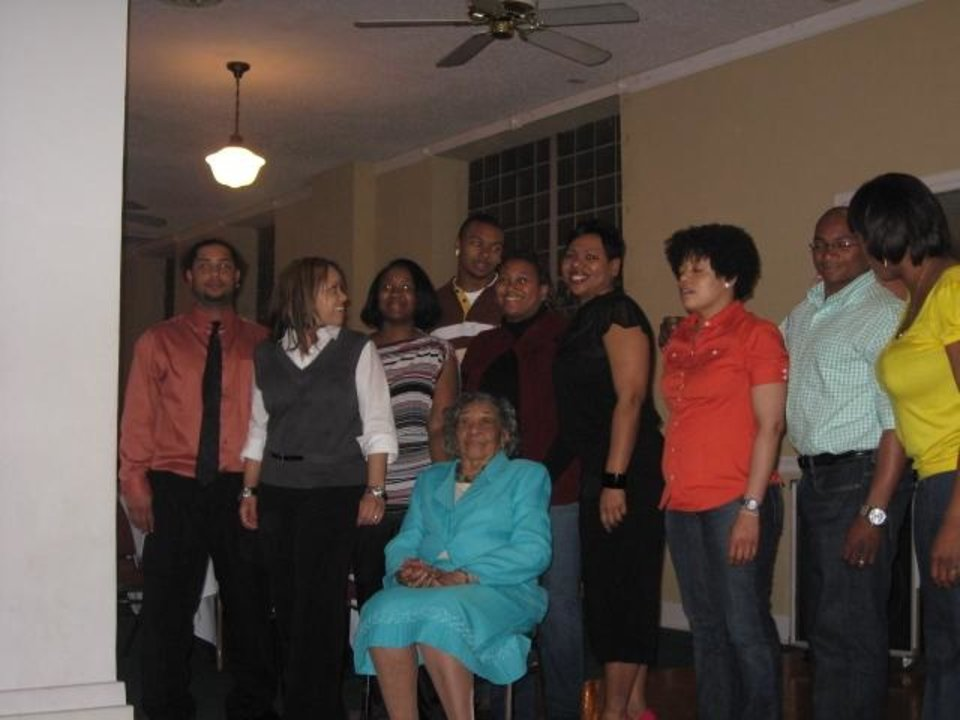 Shamiel Gary, back, made the decision to transfer from Wyoming in 2010, so he could be closer to his grandmother, front, who was dealing with Alzheimer's. PHOTO PROVIDED