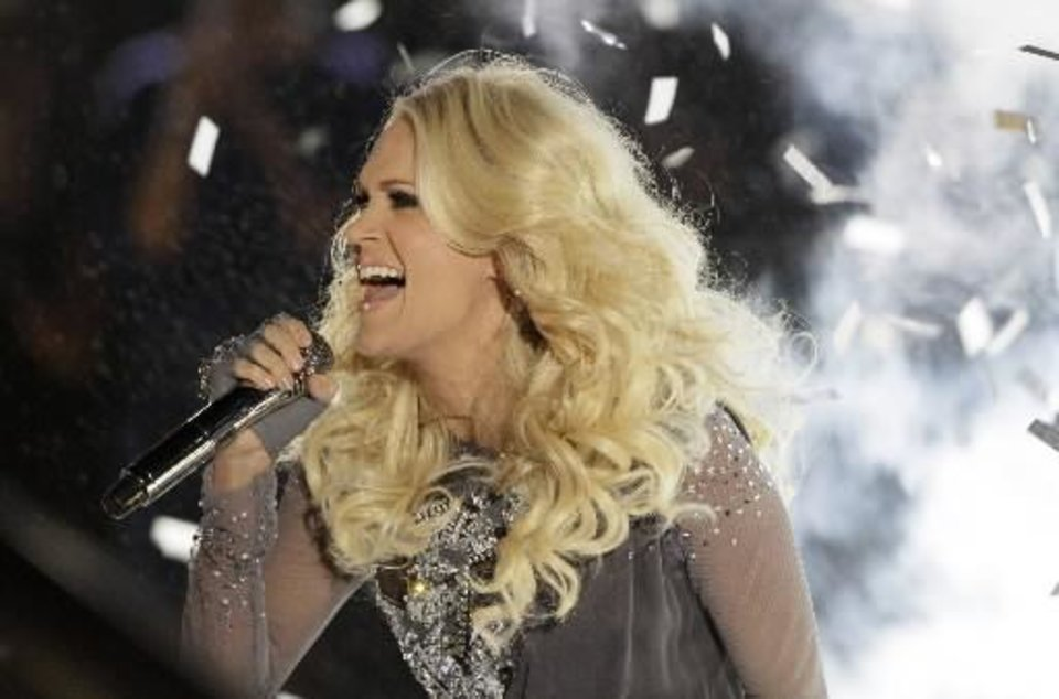 Carrie Underwood performs onstage at the 46th Annual Country Music Awards at the Bridgestone Arena on Thursday, Nov. 1, 2012, in Nashville, Tenn. (AP file)
