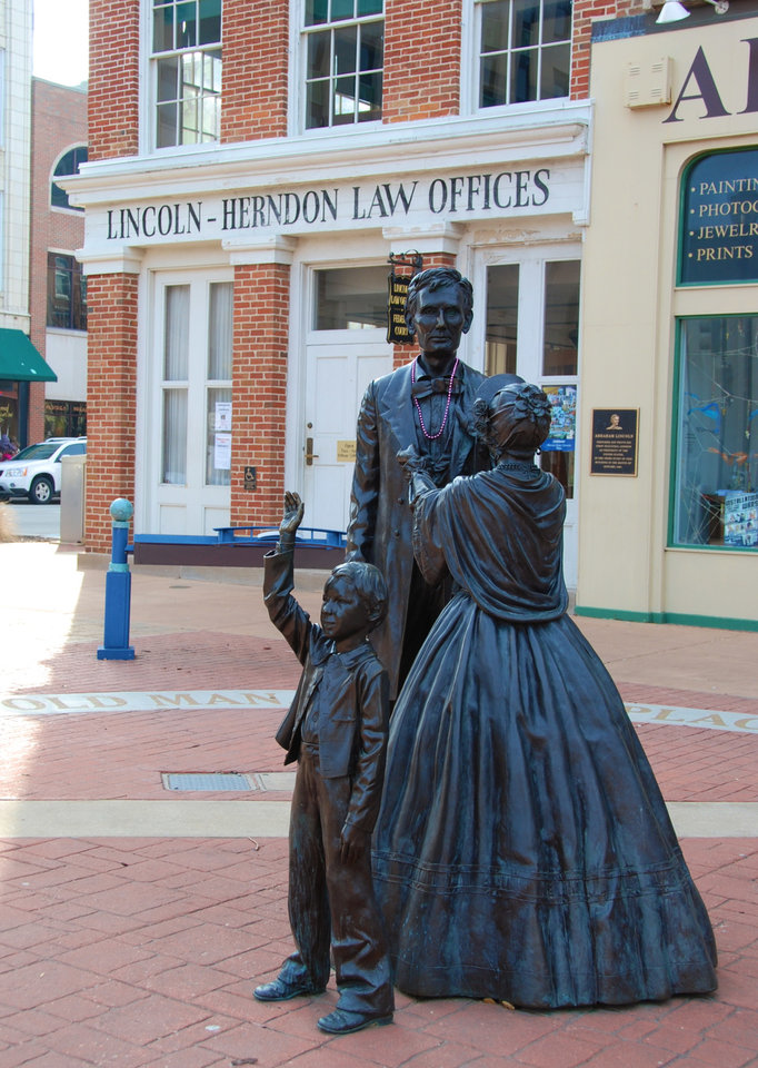 Photo -  The 1841 Lincoln-Herndon building is the only remaining law office of Abraham Lincoln. PHOTO PROVIDED BY NANCY LEONARD