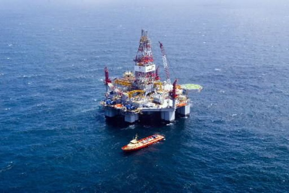 May 6, 2009 - Drilling rig in the Gulf of Mexico. Photo provided