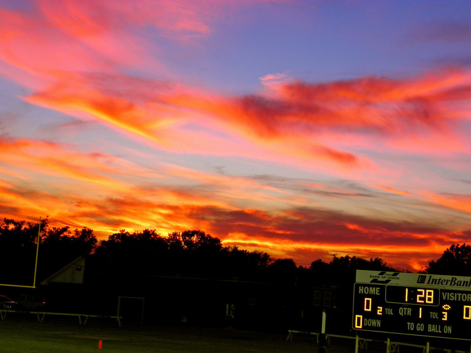 """It can't get any better than this~small town El Reno~beautiful night for a football game, shared with friends and family."" Photo by Linda Bass"