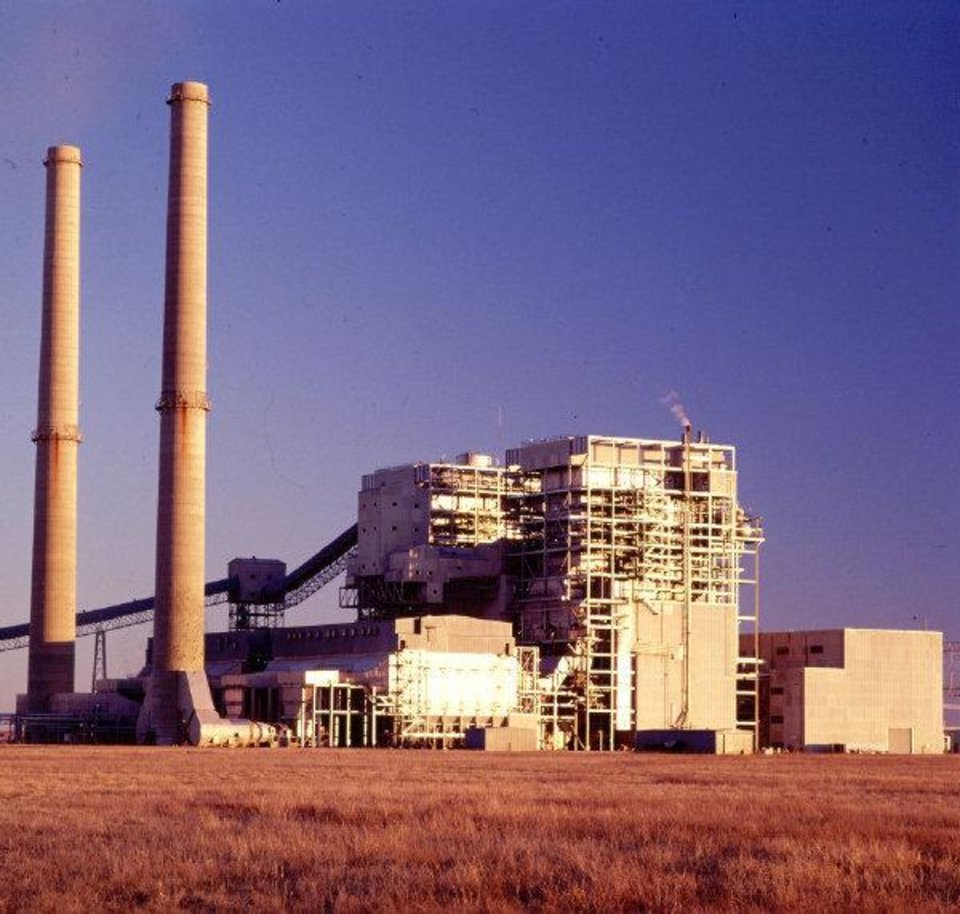 Oklahoma Gas and Electric Co. operates this coal-fired power plant at Red Rock. <strong> - provided</strong>