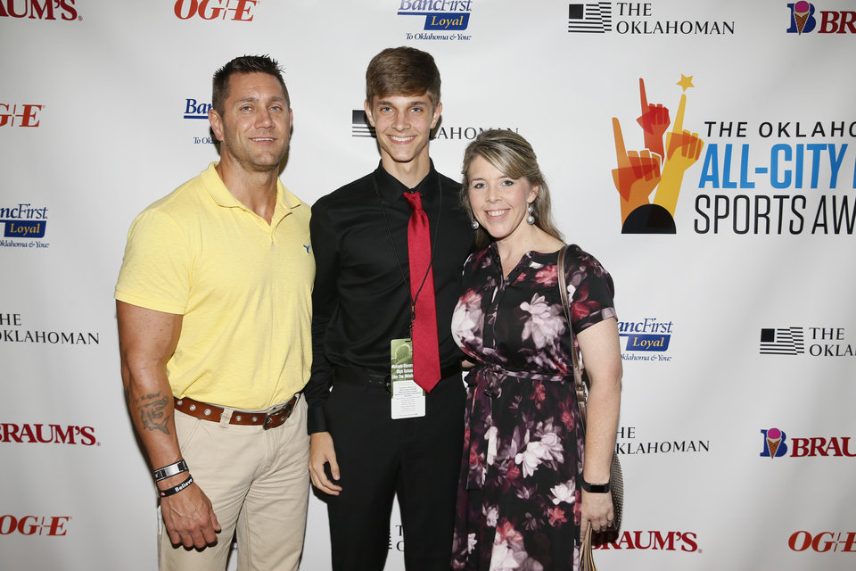 Photo - On the red carpet at The Oklahoman's All-City Prep Sports Awards at the Cox Convention Center in Oklahoma City, Tuesday, June 26, 2018. Photo by Nate Billings, The Oklahoman