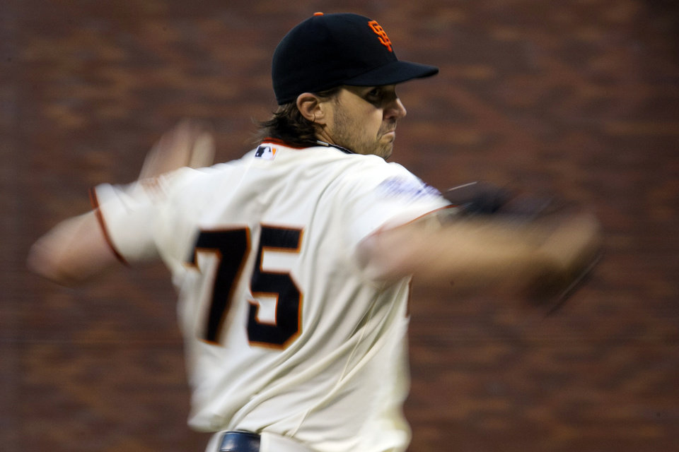 Photo -   San Francisco Giants starting pitcher Barry Zito (75) delivers against the Detroit Tigers during Game 1 of baseball's World Series, Wednesday, Oct. 24, 2012, in San Francisco. (AP Photo/The Sacramento Bee, Paul Kitagaki Jr.) MAGS OUT; LOCAL TV OUT (KCRA3, KXTV10, KOVR13, KUVS19, KMAZ31, KTXL40); MANDATORY CREDIT
