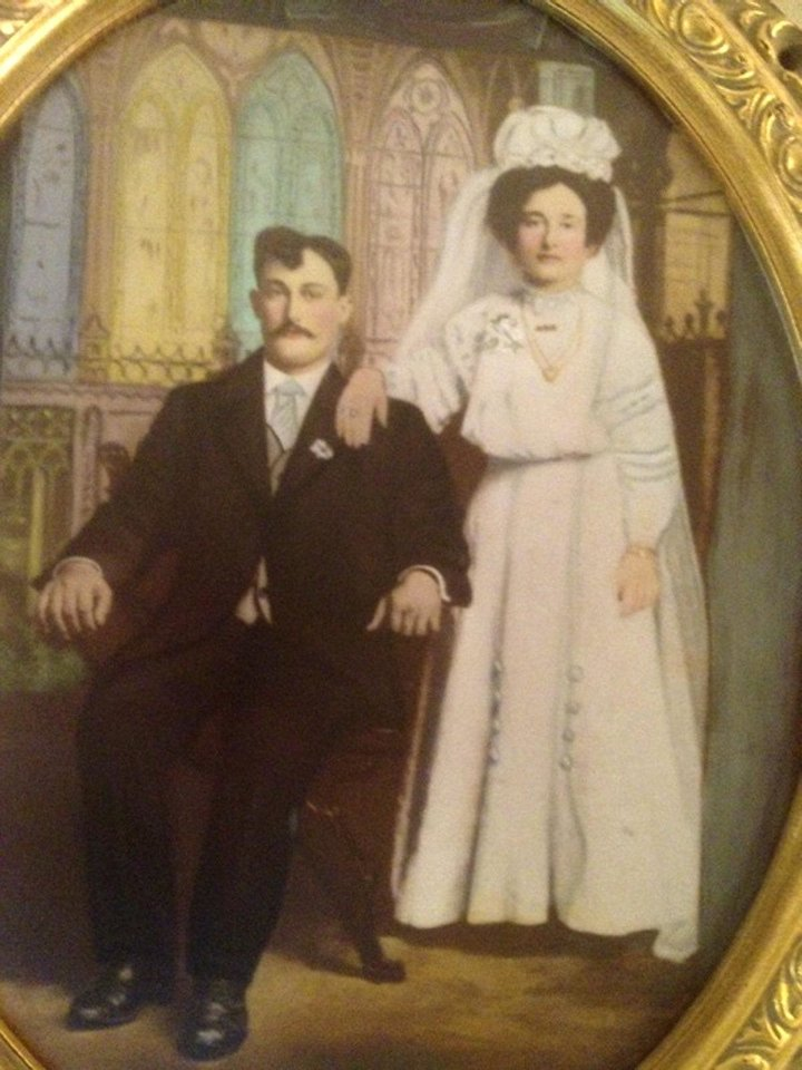 Photo - WEDDING DRESS: Mr. and Mrs. Frank Razook were married in 1910. Photo provided by Judith Lehmbeck