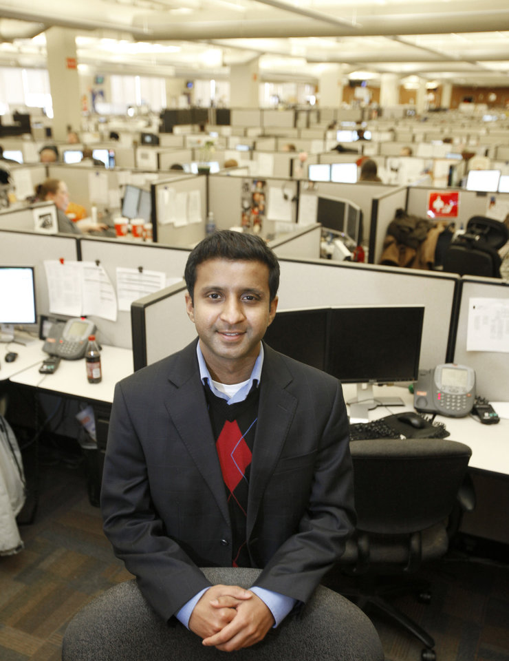 Photo - Rohit Keshava, site manager for Dell in Oklahoma City.  Photo By Steve Gooch, The Oklahoman  Steve Gooch - The Oklahoman
