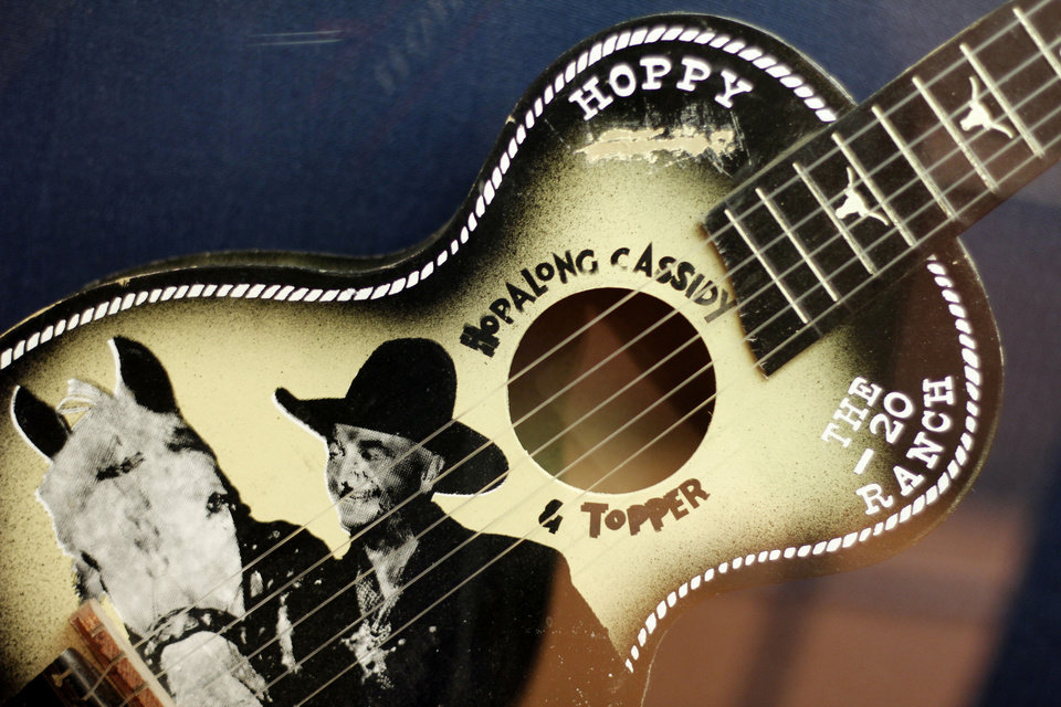 Photo - This guitar is part of the Hopalong Cassidy display in the