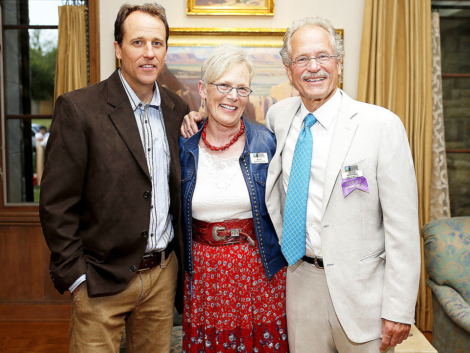 Photo - D. Russell Case, Kathi Schroeder,  Peter Hoffman.  Photo by Bryan Terry, The Oklahoman