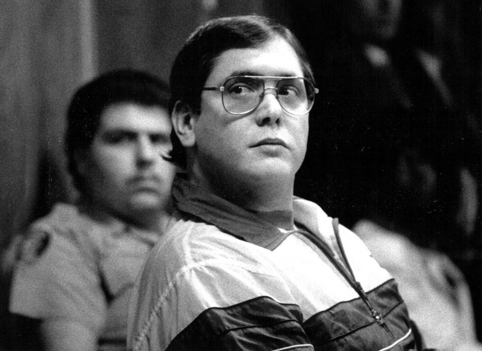 In a 1988 photo Manuel Pardo listens as his sentence is read; he was found guilty of nine counts of murder. Pardo, 56, is scheduled to be executed Tuesday night Dec. 10, 2012, at Florida State Prison in Starke barring a last-minute stay, fulfilling a request he made to jurors at his 1988 trial. (AP Photo/The Miami Herald, ) MAGS OUT NO SALES