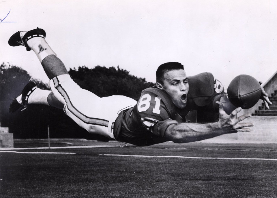 Photo - Howard Twilley, University of Tulsa college football player (Original photo dated 1965)