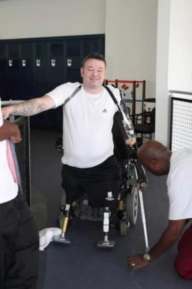 Rusty Dunagan became the 23rd surviving triple amputee on Sept. 22, 2010, when an improvised explosive device claimed both his legs and one arm during a mission in Afghanistan. PHOTO PROVIDED