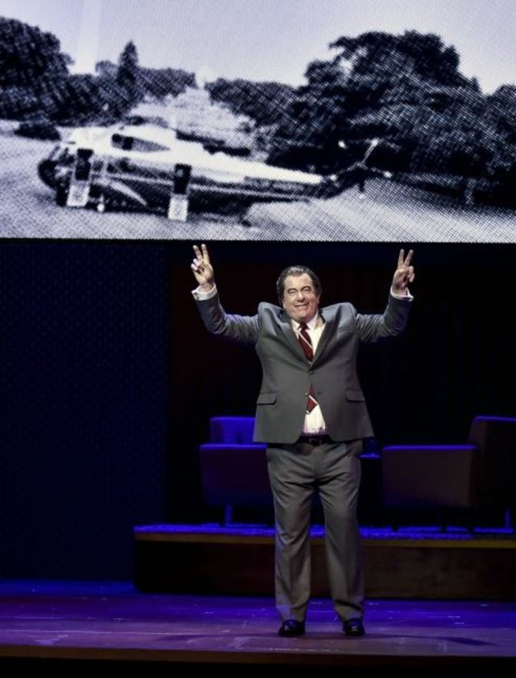 Photo -  D. Lance Marsh stars as President Richard Nixon in Lyric Theatre's