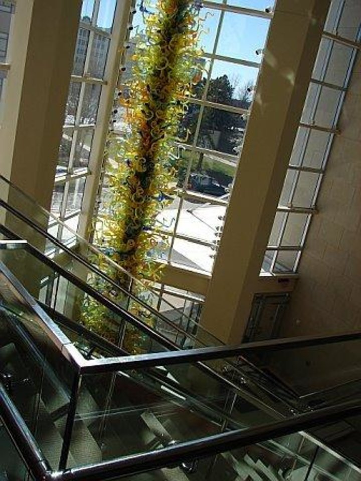 "Downtown OKC Museum of Art 2007...gorgeous ""Chiluli"" (spelling?) glass.....<br/><b>Community Photo By:</b> Victoria Jimenez<br/><b>Submitted By:</b> Victoria, Harrah"