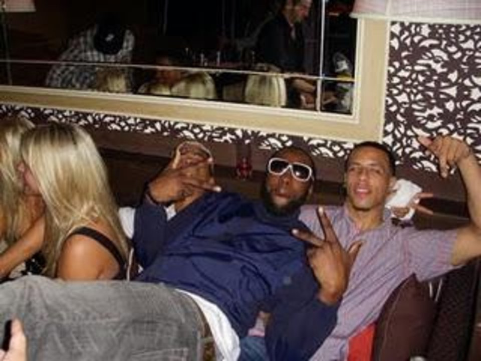 James Harden (middle) knows how to get it in!