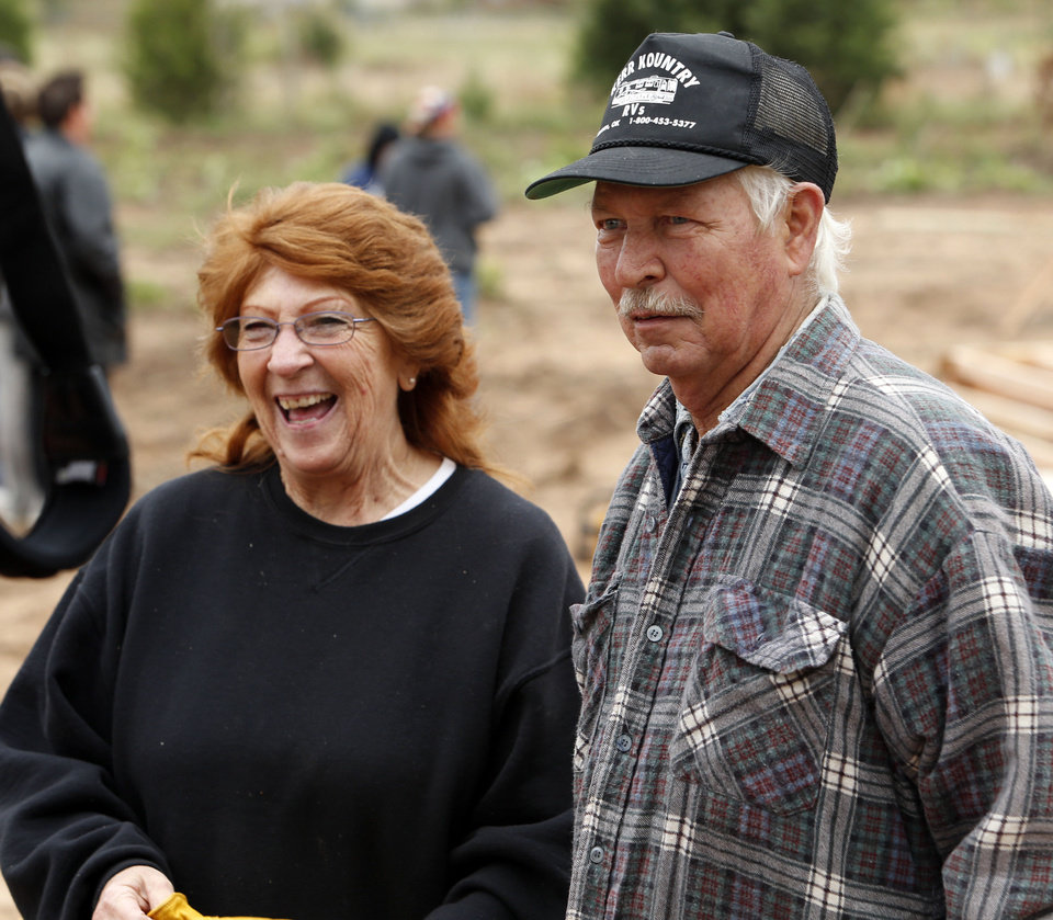 Photo - Joel and Bettie Spears talk about their home, which is being built in a