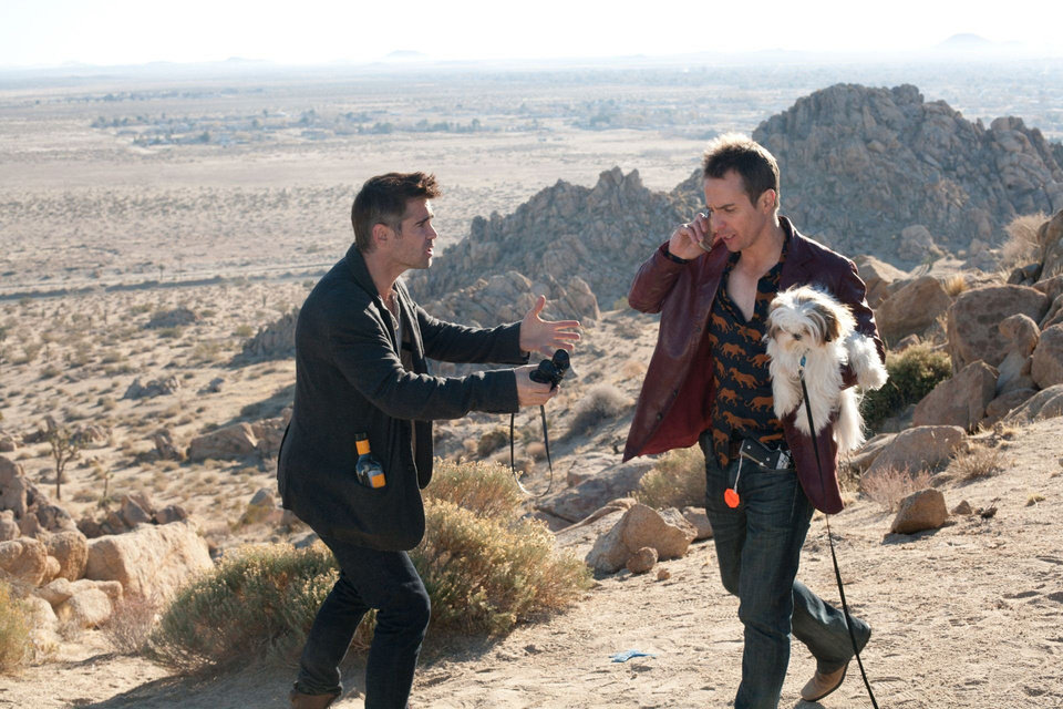 "Right: Colin Farrell and Sam Rockwell star in ""Seven Psychopaths.""  CBS FILMS Photo"