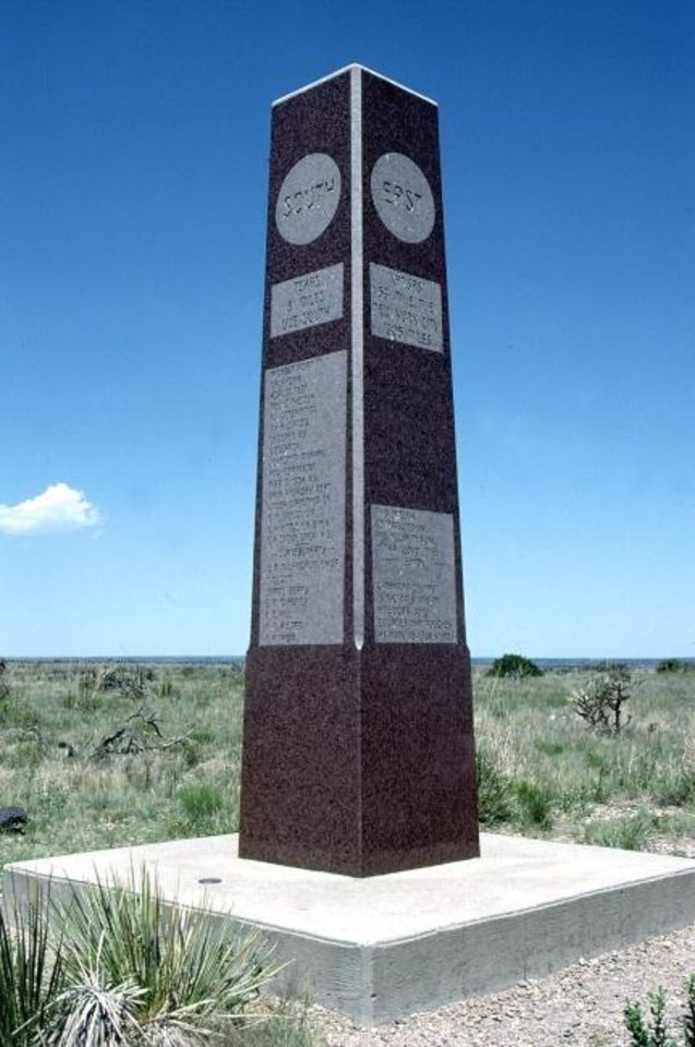 Photo -  A marker designates Black Mesa as the state's highest point at 4,973 feet above sea level. [The Oklahoman Archives]