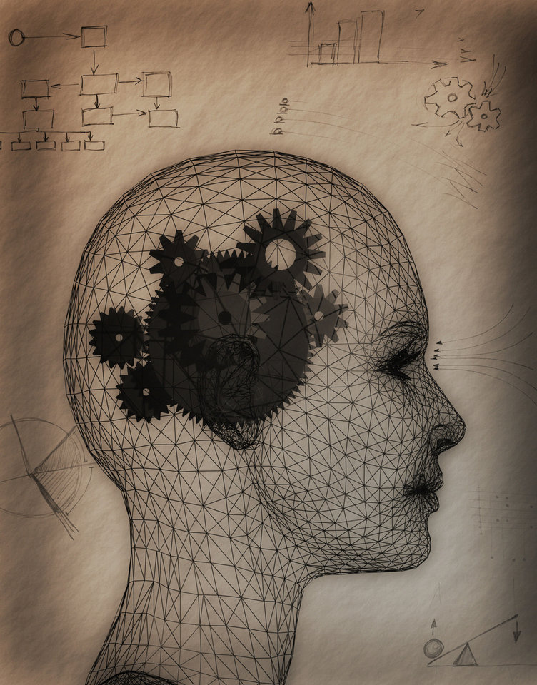 Photo - Gears Inside of a Woman's Head