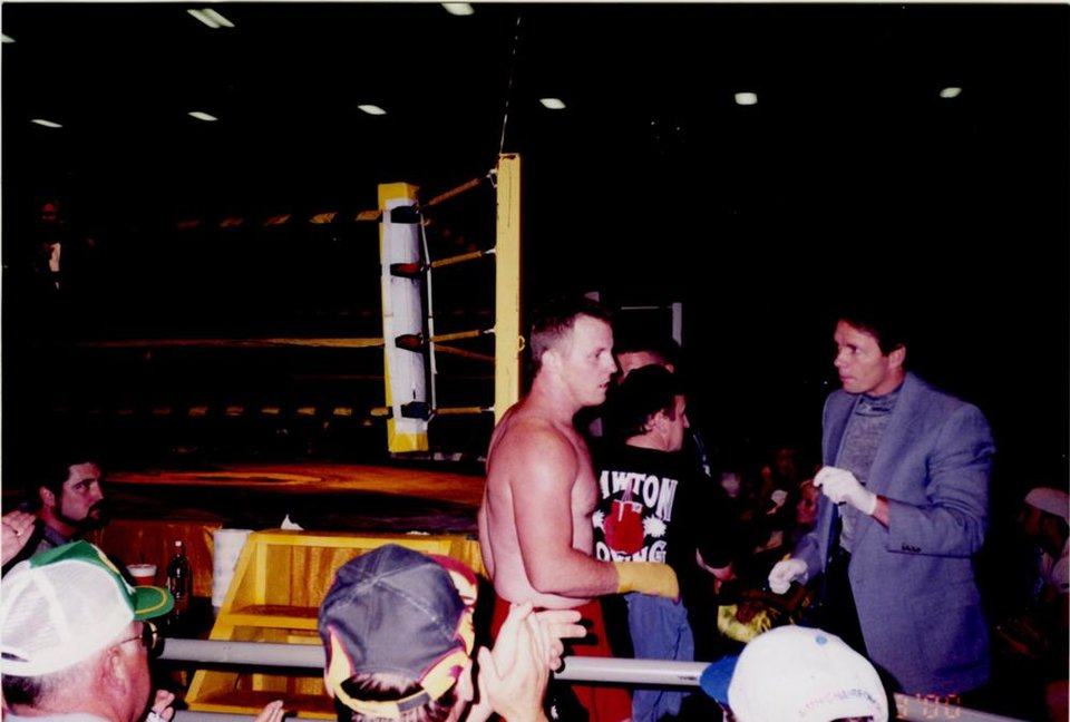 Photo - Sam Crilly at a Toughman competition in 2000.