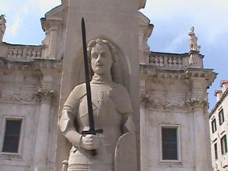 Photo - The medieval warrior statue of Orlando, carved by Antun Dubrovcanin in 1418, is a symbol of freedom for the city of Dubronik, Croatia. It's tied to legendary hero Orlando Rolando who is claimed to have helped liberate Dubrovnik from Arab pirates in the 8th century. PHOTO BY JOE HIGHT, THE OKLAHOMAN