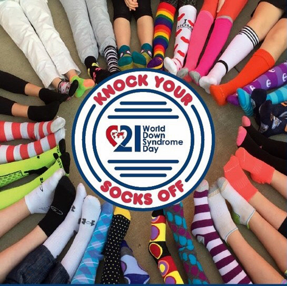 Photo - Supporters of World Down Syndrome Day are encouraged to wear crazy socks on March 21. [GRAPHIC PROVIDED]