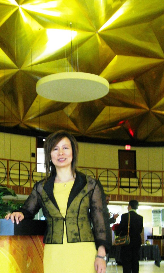 Photo - Irene Lam at the Gold Dome in happier days.  Steve Lackmeyer