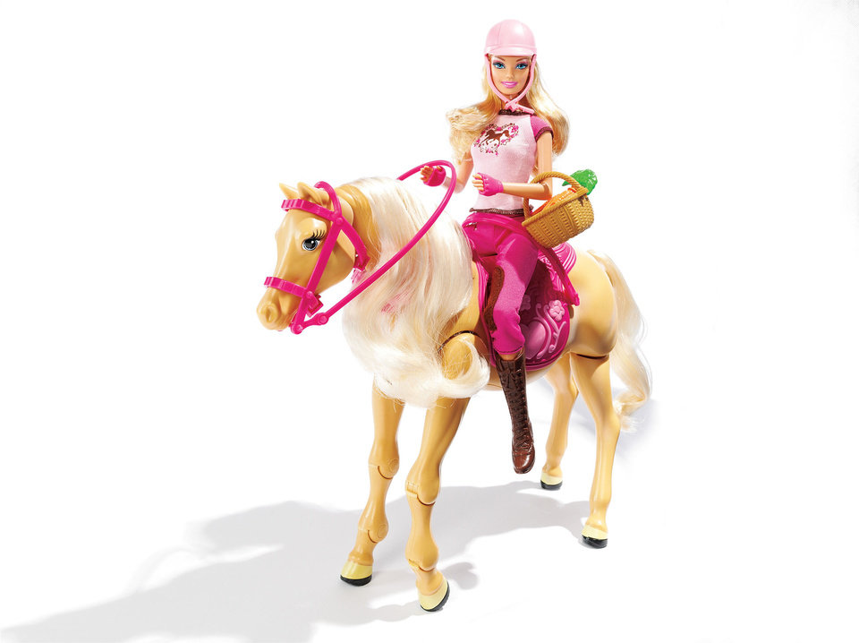 Barbie Tawny Walking Horse & Doll Gift Set combines a little girl's love of dolls and horses. The horse makes realistic sounds and even prances. $29.99 at Kohl's. Photo provided. <strong></strong>