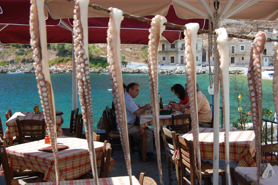 Photo -  In seaside tavernas throughout Greece, the seafood is fresh as can be. [Photo by Rick Steves, for The Oklahoman]