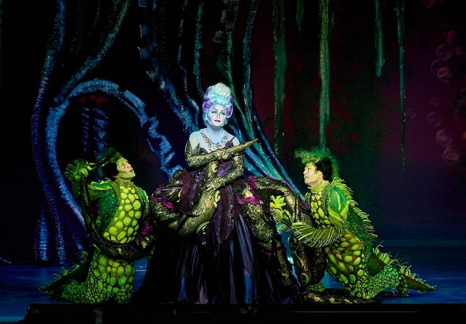 Photo -  Jennifer Allen, Brandon Roach and Frederick Hagreen appear in a scene from the musical Disney's