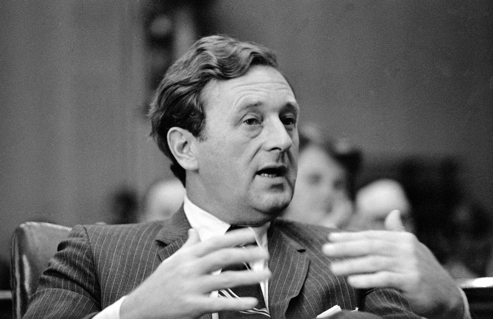 Photo - FILE - In this Sept. 17, 1969 file photo, Nashville Tennessean Editor John Seigenthaler testifies at a Senate Commerce Subcommittee hearing in Washington. Seigenthaler, the journalist who edited The Tennessean newspaper, helped shape USA Today and worked for civil rights during the Kennedy administration, died Friday, July 11, 2014. He was 86. (AP Photo/Bob Daugherty)