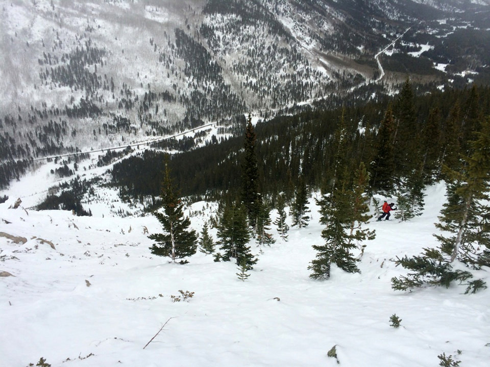 Photo - This photo released by the Colorado Avalanche Information Center show the area of an avalanche that killed two skiers on Saturday, Feb. 15, 2014. Three other skiers were hospitalized following Saturday's avalanche near Leadville, Colo. Rescue crews found the two skiers' bodies Sunday Feb. 16, near Independence Pass, about 80 miles southwest of Denver, the Lake County Sheriff's Office said. (AP Photo/Colorado Avalanche Information Center)