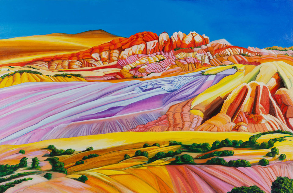 �Oz � Southwest Australia Painted Desert,� a 2012 oil on canvas by Carol Beesley. Photos provided