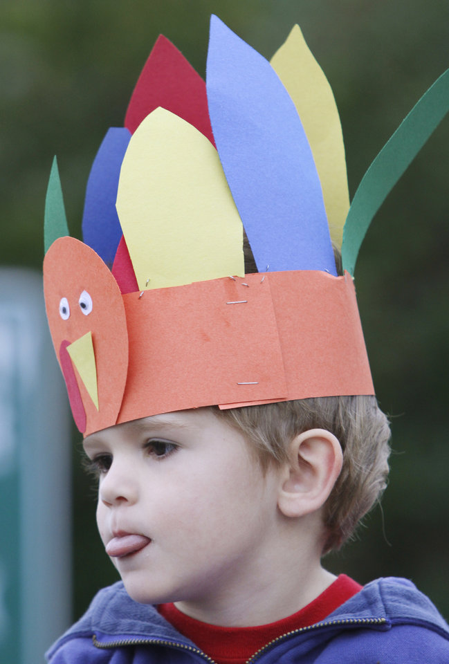 Zach Finley,3yr, waits for the start of the Turkey Trot in Edmond, Thursday  November 22, 2012. The annual Turkey Trot is a fundraiser for Turning Point Ministries. Photo By Steve Gooch, The Oklahoman