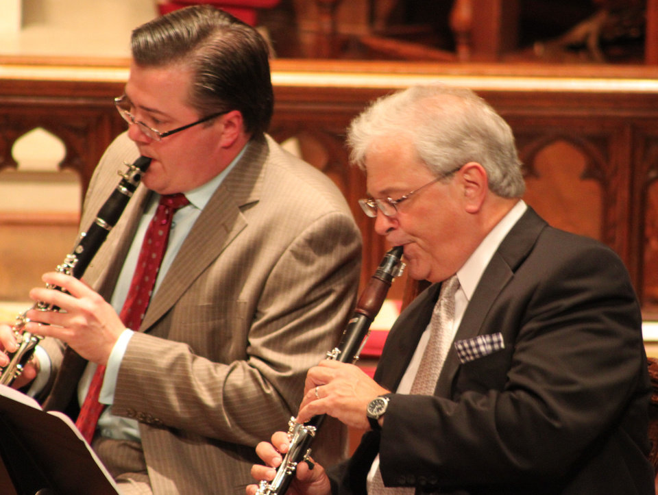 Photo - Clarinetists Chad Burrow, left, and David Shifrin   Photo provided  Photo provided