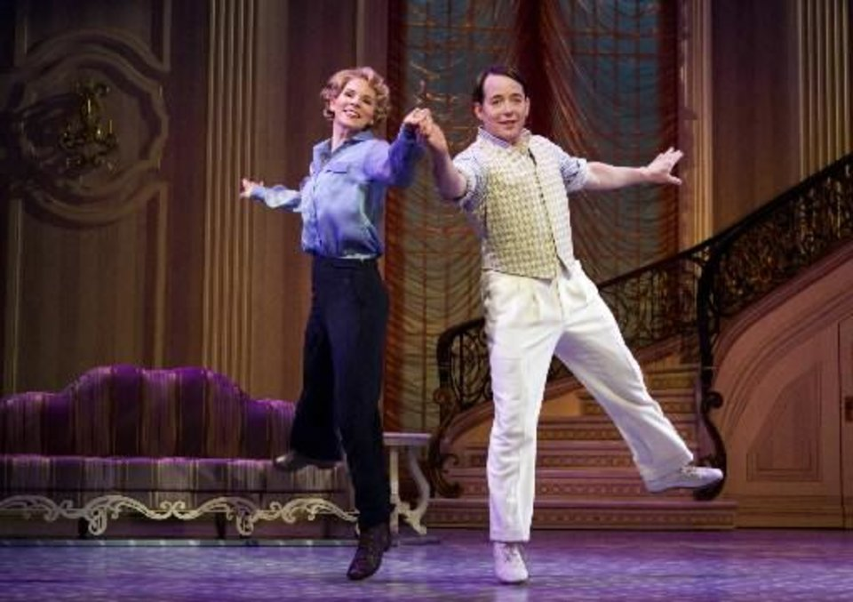 "Kelli O'Hara and Matthew Broderick star in ""Nice Work if You Can Get It."" (AP file)"