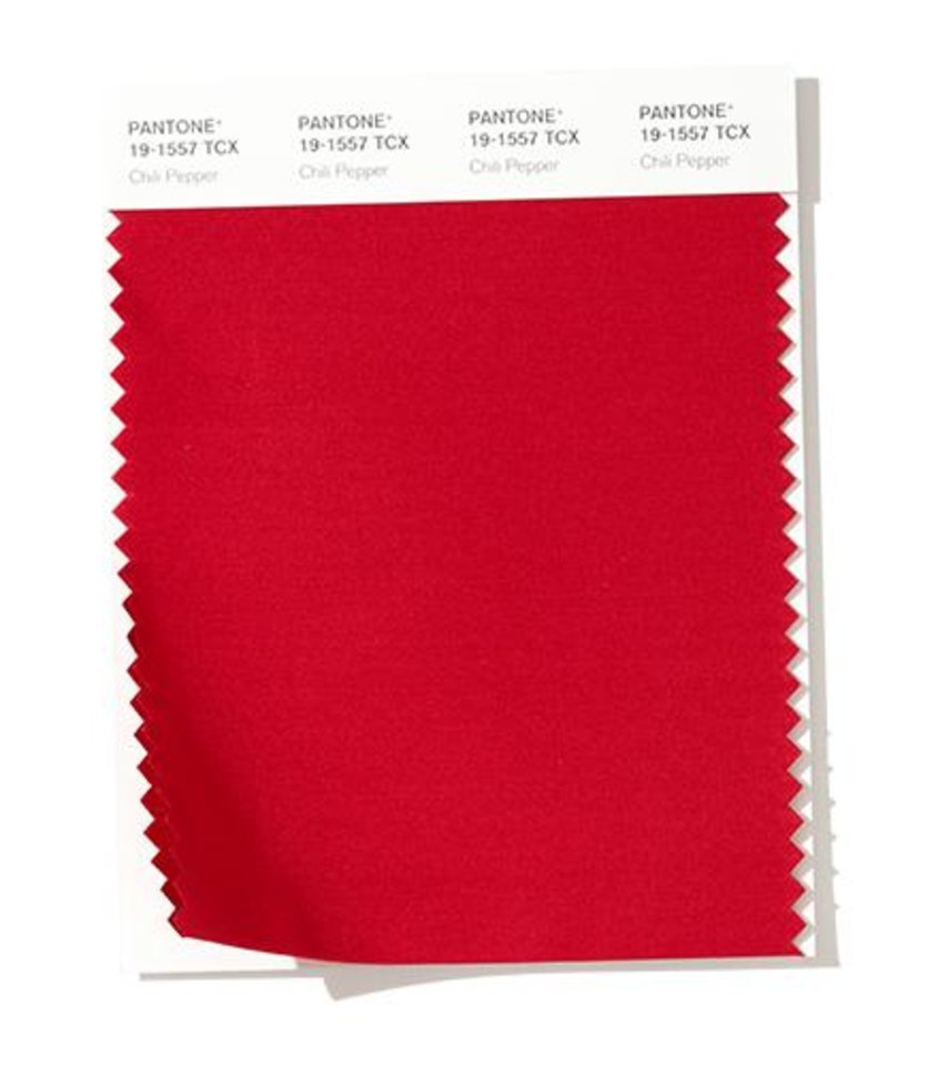 Photo - Pantone's Chili Pepper is expected to be a popular color for fall fashion 2019.