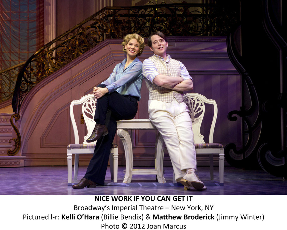 "Kelli O'Hara and Matthew Broderick in the new Gershwin musical ""Nice Work If You Can Get It""   Photo by Joan Marcus <strong>Photo by Joan Marcus</strong>"